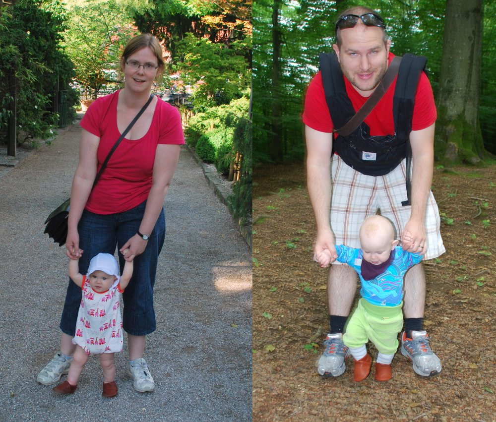 Susanna and Johannes walk with Ellinor