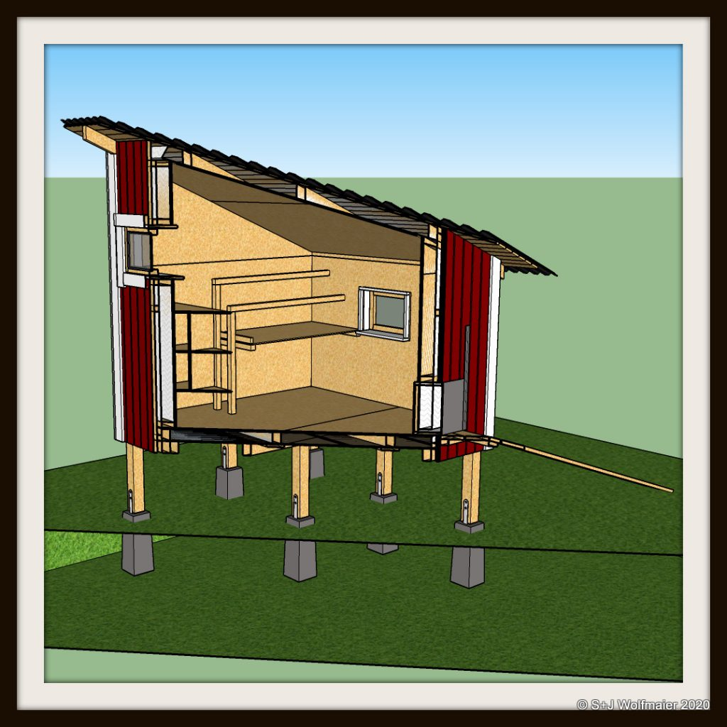 Cross section of the chicken coop model.